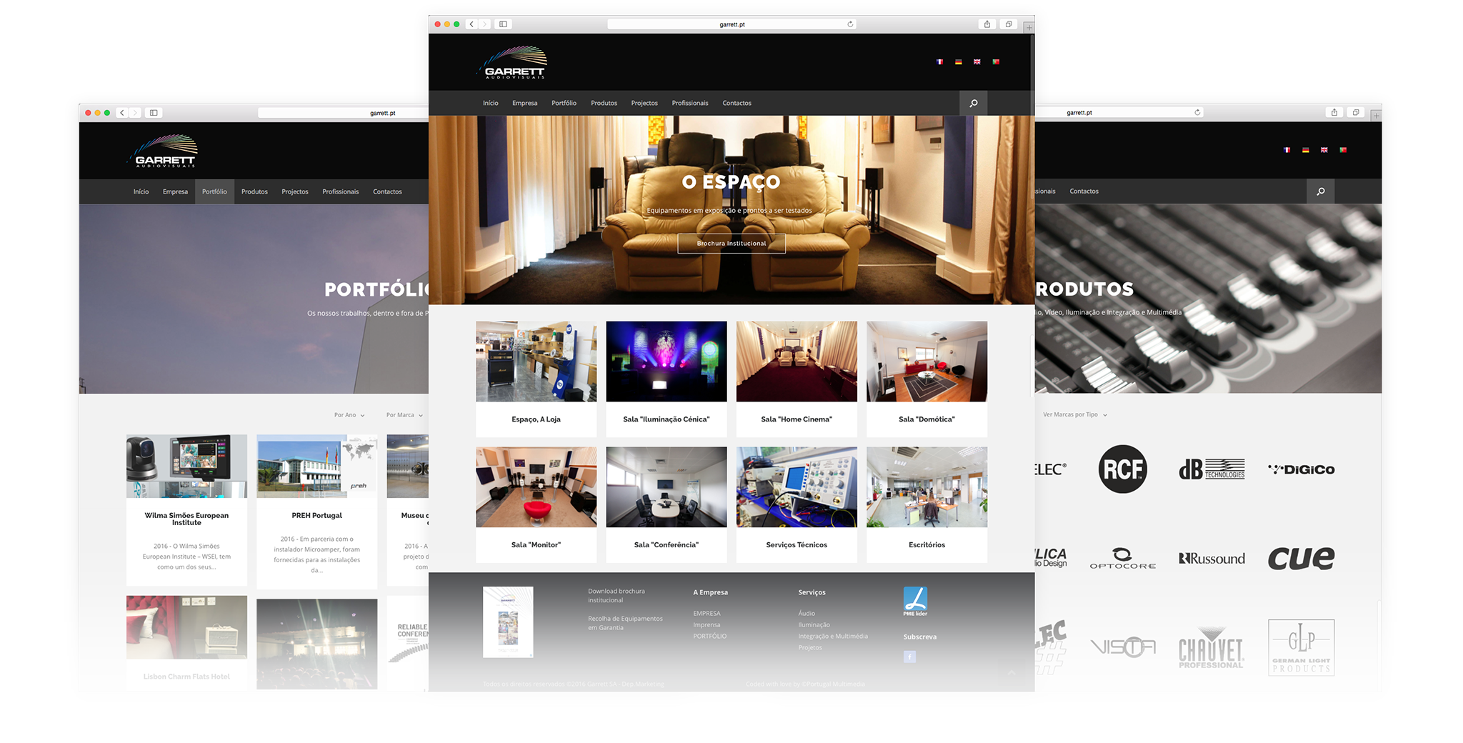 Garrett Audiovisuais Website