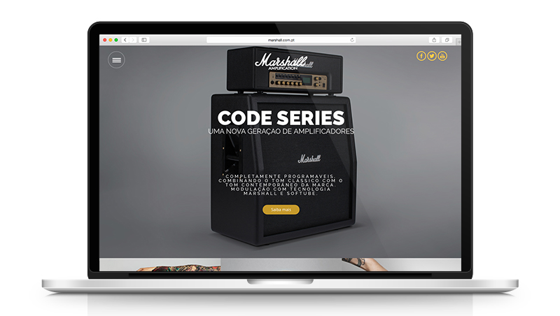 Marshall Portugal Website